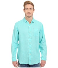Tommy Bahama Sea Glass Breezer Long Sleeve Shirt Meridian Men's Long Sleeve Button Up Green