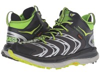 Hoka One One Tor Speed 2 Mid Black Dark Shadow Bright Green Men's Shoes
