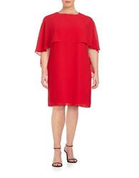 Vince Camuto Plus Popover Dress Red
