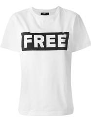 Yang Li Freedom Print T Shirt White