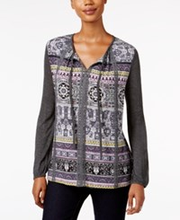 Styleandco. Style Co. Printed Peasant Top Only At Macy's Stellar Stripes