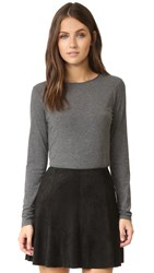 Theory Basic Long Sleeve Tee Dark Charcoal