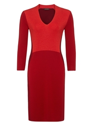 Jaeger Colour Block Dress Red