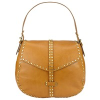 Collection Weekend By John Lewis Memphis Leather Stud Shoulder Bag Tan