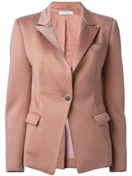 Versace Fitted Blazer Pink And Purple