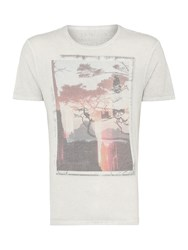 Label Lab City Dream Window Reflection Graphic T Shirt Light Grey