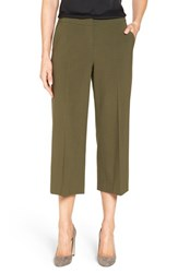 Classiques Entierr Women's Entier Stretch Wool Crop Trousers Olive Night