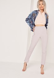 Missguided Vertical Zip Pocket Trousers Grey Grey