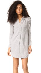 Sundry Henley Shirtdress White
