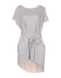 Uniqueness Dresses Short Dresses Women Grey