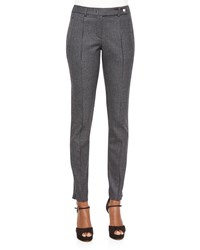 Michael Kors Collection Houndstooth Seamed Front Leggings Slate Graphite Grey Grey Size 4