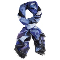 Chesca Abstract Print Scarf Blue