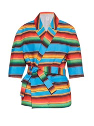 Stella Jean Acrobata Peruvian Stripe Cotton Jacket Multi