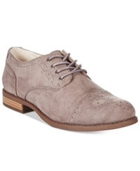 White Mountain Saint Tailored Lace Up Oxfords Women's Shoes Grey