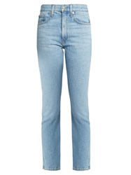 Brock Collection Wright Straight Leg Jeans Light Denim