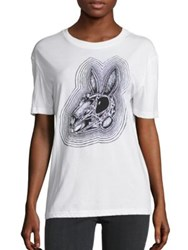 Mcq By Alexander Mcqueen Classic Rabbit Skull Tee White