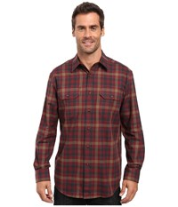 Pendleton Bridger Shirt Maroon Plaid Men's Clothing Red