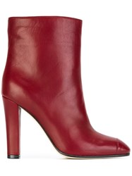 Agnona Ankle Boots Red