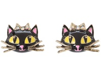 Betsey Johnson Enchanted Forest Cat Stud Earrings Pink Earring