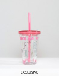Paperchase Mermaid Straw Tumbler Multi