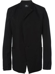 Lost And Found Asymmetric One Button Jacket Black