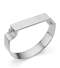Monica Vinader Signature Wide Bangle Female Silver