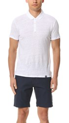 Woolrich Linen Polo Optic White