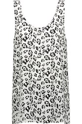 Equipment Kaylen Printed Washed Silk Tank White