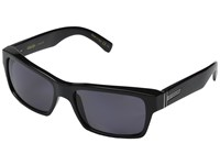 Von Zipper Fulton Polarized Black Gloss Vintage Grey Wildlife Polarized Lens Sport Sunglasses Gray