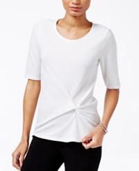 Bar Iii Knot Front Elbow Sleeve Top Only At Macy's Egret