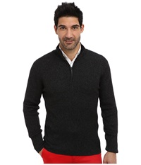 Dkny L S 1 4 Zip Rib Marl Mock Neck Sweater Dark Heather Grey Men's Sweater Gray