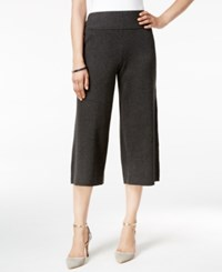 Alfani Sweater Knit Culottes Only At Macy's Coal Melange