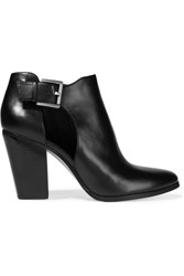 Michael Michael Kors Adams Cutout Leather Ankle Boots Black