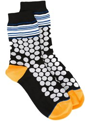 Paul Smith Dots And Stripe Socks Black