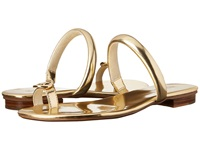 Michael Michael Kors Nora Toe Thong Gold Specchio Mirror Metallic Women's Sandals