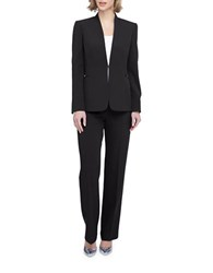 Tahari By Arthur S. Levine Plus Hardware Accented Jacket And Pants Suit Set Black