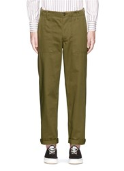 Maison Kitsune Cotton Worker Pants Green