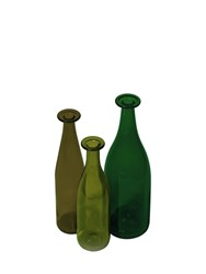 Cappellini 3 Green Glass Bottles