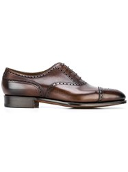 Edward Green 'Dark Antique' Oxford Shoes Brown