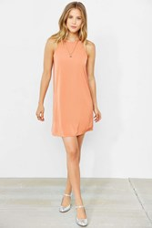 Cooperative High Neck Scallop Frock Dress Rust