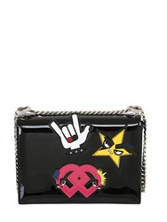 Dsquared Medium Punk Patches Patent Leather Bag