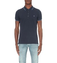 Diesel T Skin Polo Shirt Navy