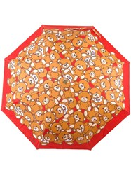 Moschino Toy Bear Mini Umbrella Red
