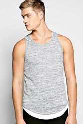 Longline Knitted Vest With Mock Hem