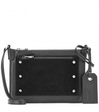 Marc By Marc Jacobs Leather And Suede Cross Body Bag Black