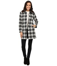Pendleton Doreen Coat Black Ivory Check Coating Women's Coat