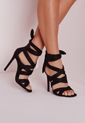 Missguided Lace Up Gladiator Heels Black Black