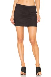 David Lerner High Low Rounded Hem Skirt Black