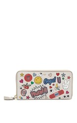 Anya Hindmarch Large Zip Round Wallet White