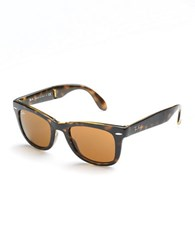 Ray Ban Folding Wayfarer Sunglasses Tortoise